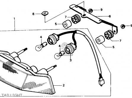 Honda CBR600F HURRICANE 1987 (H) USA parts lists and