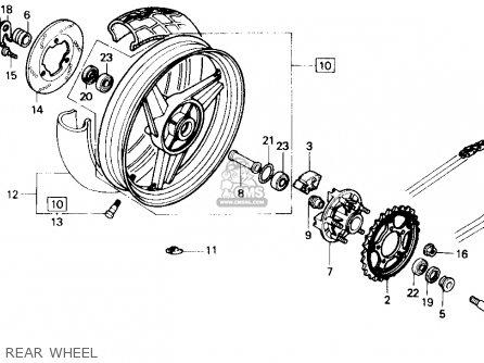 Honda Cbr600f Hurricane 1988 (j) Usa parts list