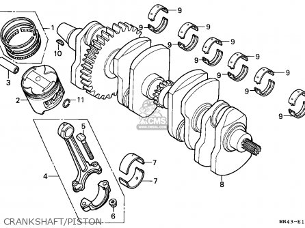 Honda CBR600F HURRICANE 1989 (K) CANADA / MKH parts lists