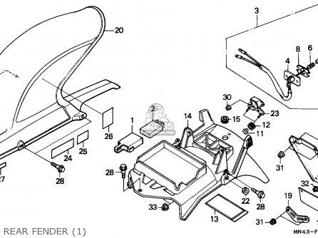 Honda CBR600F HURRICANE 1989 (K) ENGLAND / MKH parts lists