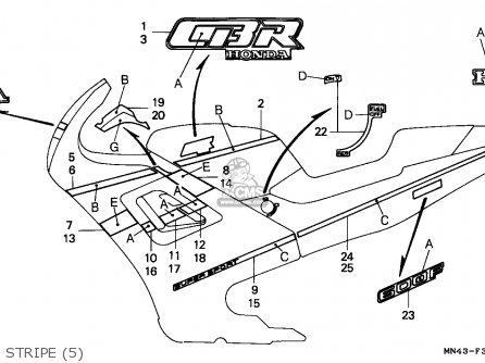 Honda Cbr600f Hurricane 1989 (k) Italy / Kph parts list