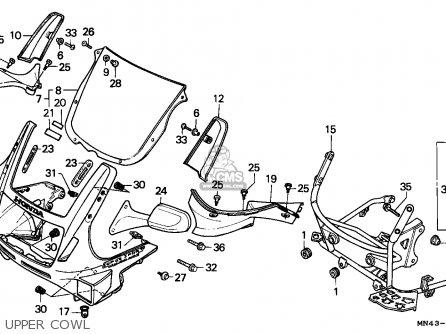 Honda Cbr600f Hurricane 1989 (k) Sweden / Kph parts list