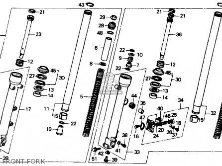 Honda Cbr600f Hurricane 1989 (k) Usa parts list