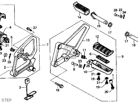 Honda CBR600F HURRICANE 1989 (K) USA parts lists and