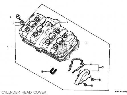 Honda Cbr600f Hurricane 1990 (l) Mexico / Kph parts list