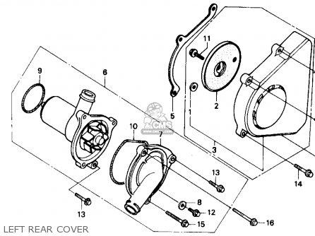 Honda Cbr600f Hurricane 1990 (l) Usa parts list