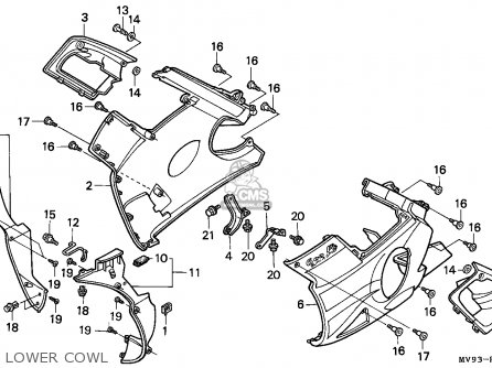 Honda CBR600F HURRICANE 1991 (M) EUROPEAN DIRECT SALES