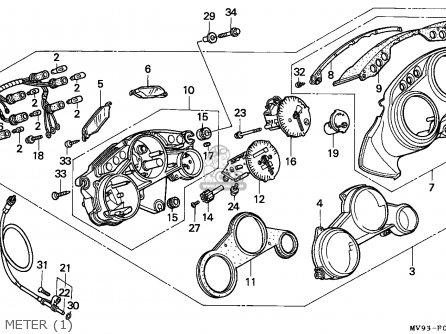 Honda CBR600F HURRICANE 1992 (N) ENGLAND / KPH parts lists