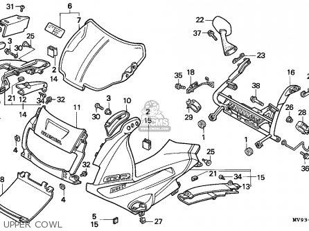 Honda Cbr600f Hurricane 1992 (n) England / Kph parts list