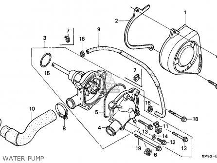 Honda Cbr600f Hurricane 1993 (p) Australia / Kph parts