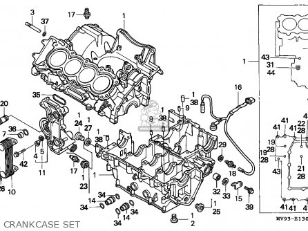 Honda CBR600F HURRICANE 1993 (P) FRANCE / KPH YB parts