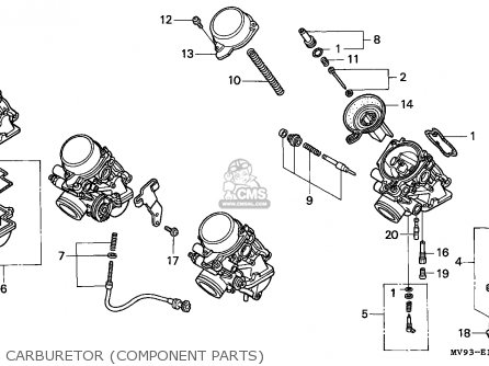 Honda Cbr600f Hurricane 1994 (r) Austria parts list