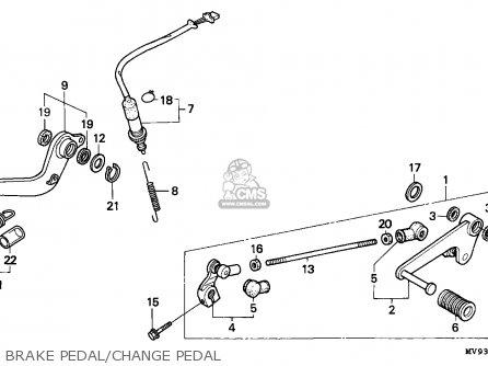 Honda CBR600F HURRICANE 1994 (R) GERMANY / 34P parts lists