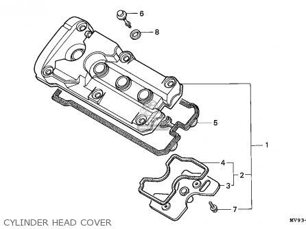 Honda Cbr600f Hurricane 1994 (r) Spain / Kph parts list