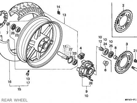 Honda Cbr600f Hurricane 1995 (s) Austria / Kph parts list