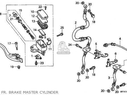 Honda Cbr600f Hurricane 1995 (s) England / Mkh parts list