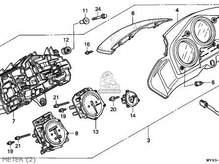 Honda CBR600F HURRICANE 1995 (S) MEXICO / KPH parts lists