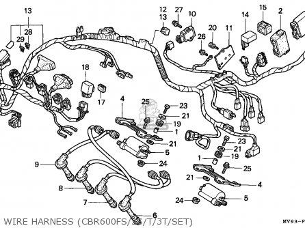 Honda Cbr600f Hurricane 1996 (t) Spain / Kph parts list