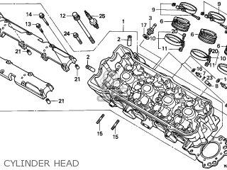 Honda Cbr600f Hurricane 1997 (v) England parts list