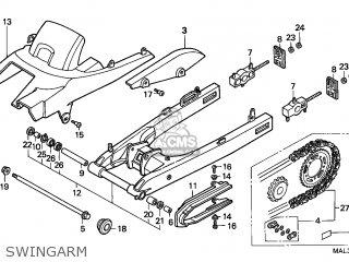 Honda CBR600F HURRICANE 1997 (V) ENGLAND parts lists and
