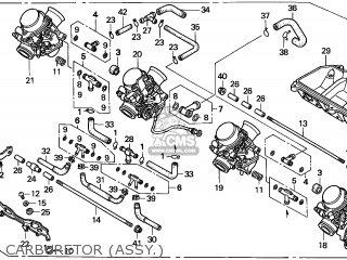 Honda Cbr600f Hurricane 1998 (w) Brazil parts list