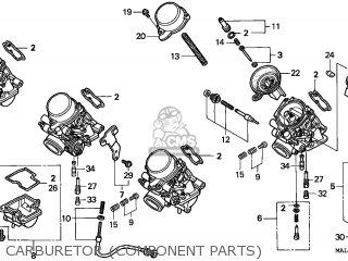 Honda CBR600F HURRICANE 1998 (W) ENGLAND parts lists and
