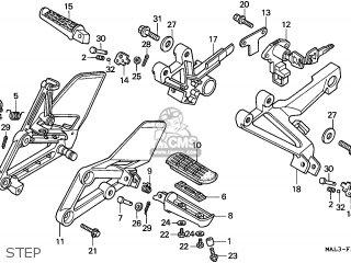 Honda CBR600F HURRICANE 1998 (W) GERMANY / 34P parts lists