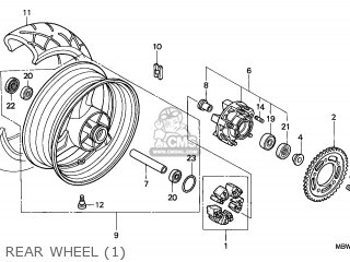 Honda CBR600F HURRICANE 1999 (X) AUSTRALIA parts lists and