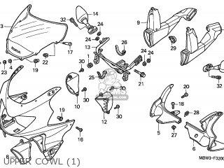 Honda CBR600F HURRICANE 1999 (X) KOREA parts lists and