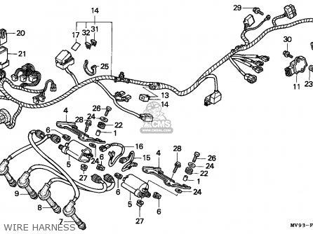 Honda Cbr600f2 1992 Canada / Mkh parts list partsmanual