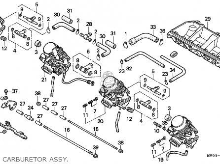 Honda Cbr600f2 1994 Canada / Mkh parts list partsmanual