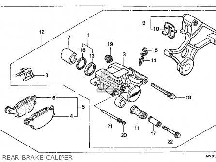 Honda CBR600F2 SUPERSPORT 1991 (M) CANADA / MKH parts