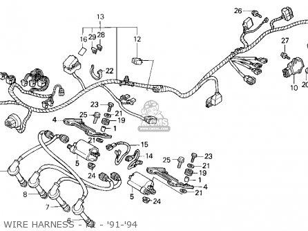 Honda CBR600F2 SUPERSPORT 1991 (M) USA parts lists and