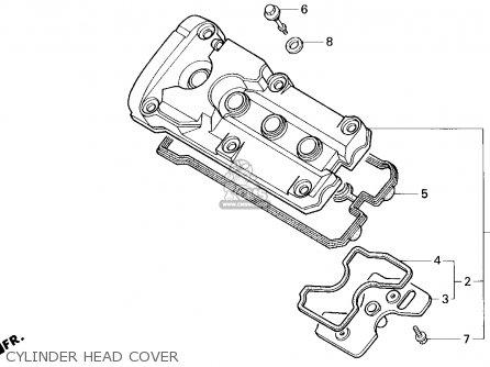 Honda Cbr600f2 Supersport 1993 (p) Usa parts list