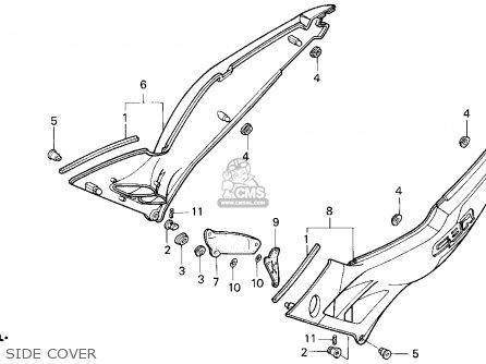 Honda CBR600F2 SUPERSPORT 1993 (P) USA parts lists and