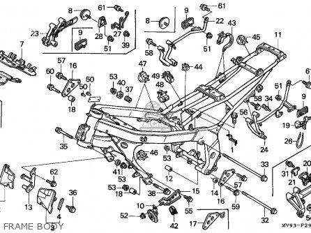 Honda CBR600F2 SUPERSPORT 1994 (R) CANADA / MKH parts