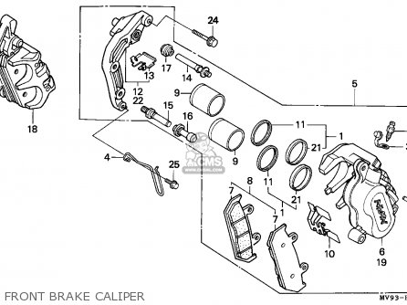 Honda Cbr600f2 Supersport 1994 (r) Canada / Mkh parts list