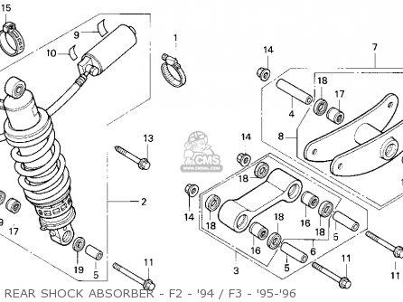 Honda Cbr600f2 Supersport 1994 (r) Usa parts list