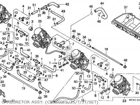 Honda Cbr600f3 1995 Canada / Mkh parts list partsmanual