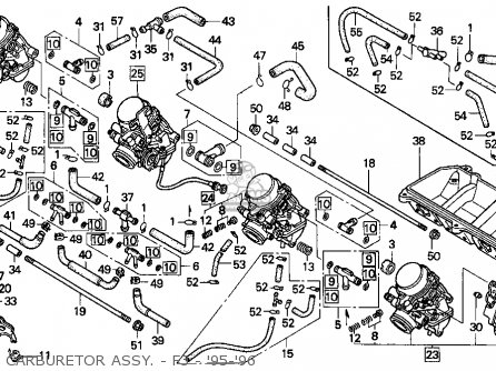 Honda CBR600F3 SUPERSPORT 1995 (S) USA parts lists and