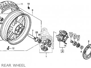 Honda CBR600F3 SUPERSPORT 1997 (V) USA parts lists and