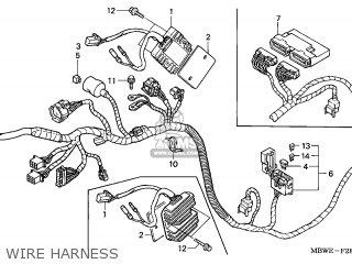 Honda CBR600FR HURRICANE 2002 (2) ENGLAND parts lists and