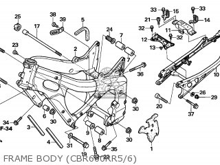 Honda CBR600RR 2005 (5) GERMANY parts lists and schematics