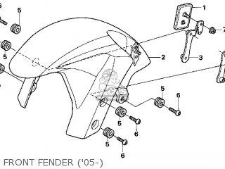 Honda CBR600RR 2005 (5) USA parts lists and schematics
