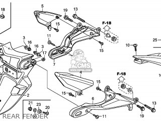 Honda CBR600RR 2008 (8) ENGLAND / TYPE 3 SPC parts lists