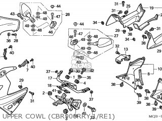 Honda CBR900RE FIREBLADE 2001 (1) AUSTRALIA parts lists