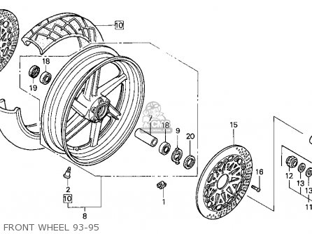 Honda CBR900RR 1993 (P) USA CALIFORNIA parts lists and
