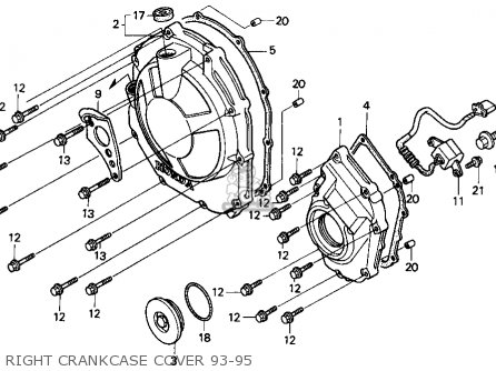 Honda Cbr900rr 1993 (p) Usa California parts list