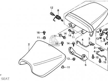 Honda Cbr900rr 1994 (r) Usa California parts list