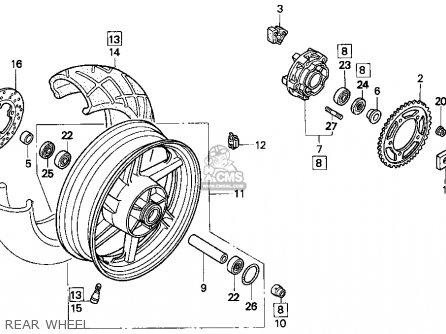 Honda CBR900RR 1995 (S) USA CALIFORNIA parts lists and